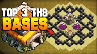 getlinkyoutube.com-Clash of Clans | TOP 3 TH8 War Base 2017 | CoC BEST Town Hall 8 Defense [TH8 Base with Bomb Tower]