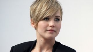 getlinkyoutube.com-Jennifer Lawrence Golden Globes Pixie Haircut Tutorial
