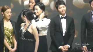 getlinkyoutube.com-SONG JOONG KI MOON CHAE WON Cute Moment @ 2012 KBS Drama Awards Part.1