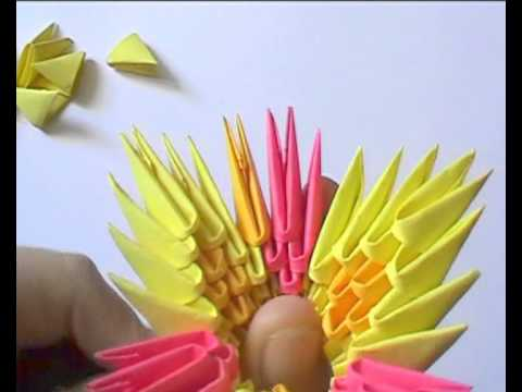 3D origami: flower basket