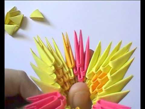 3D origami: flower basket