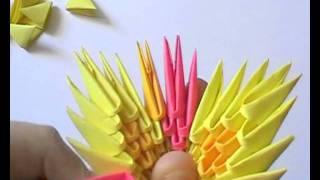 getlinkyoutube.com-3D origami: flower basket