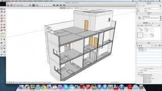 getlinkyoutube.com-١٤- SketchUp سكتش اب : شرح استخراج القطاع في المبنى بس وأموامر section plane