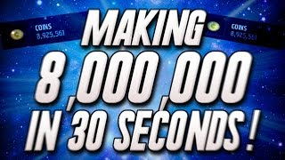 Making 8,000,000 in 30 SECONDS! Selling 99 OVR Team! - Madden Mobile 16