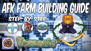 getlinkyoutube.com-Terraria AFK Farms Step-by-Step Guide | Pumpkin Moon | Frost Moon (1.3 bosses events)