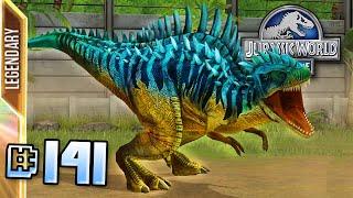 getlinkyoutube.com-Megalosaurus Max Lvl 40!! || Jurassic World - The Game - Ep 141 HD