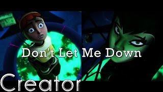 getlinkyoutube.com-April/Donnie, Karai/Leo - Don't Let Me Down - TMNT 2012 (girls in mutagen) ♫
