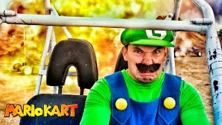 getlinkyoutube.com-Mario Kart in Real Life - Luigi Death Stare!