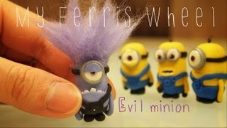 getlinkyoutube.com-How to make a miniature evil purple minion out of polymer clay (Despicable Me 2)