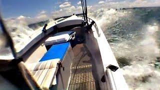 getlinkyoutube.com-18ft Alloy Panga in 25 knot winds