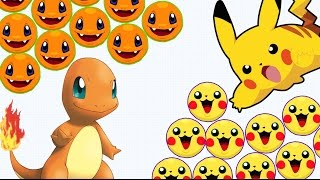 getlinkyoutube.com-Agar.io - Pikachu & Charmander DESTROY ALL // AGARIO