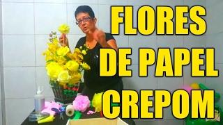 getlinkyoutube.com-Aula 1 - Como fazer Flores de papel crepom - Artesanato