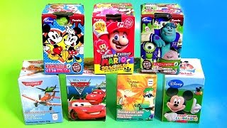 getlinkyoutube.com-Surprise Boxes Surprise Eggs Mickey Mouse Clubhouse, Pixar Cars, Disney Planes Phineas Ferb Toys