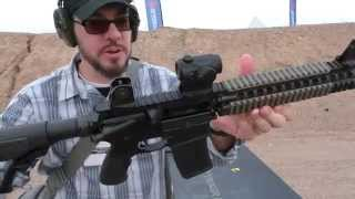 getlinkyoutube.com-Daniel Defense DD Mark 18 FULL AUTO!!! SHOT Show 2015