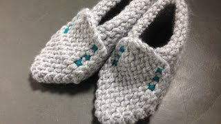 getlinkyoutube.com-How to Loom Knit Slippers for Winter (DIY Tutorial)