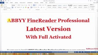 ABBYY FineReader Professional With Full Activated