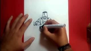 getlinkyoutube.com-Como dibujar a Frankenstein paso a paso 4 | How to draw Frankenstein 4