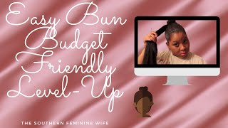 getlinkyoutube.com-How to apply a Bun with Jumbo Braiding Hair