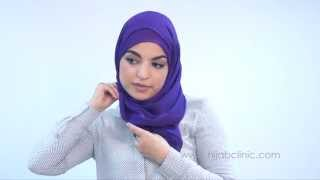 getlinkyoutube.com-Dreadful Monday: A Quick Hijab Tutorial for the professional woman.  #The_Glorious_She