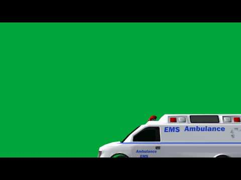 free green screen effects - ambulance - animation