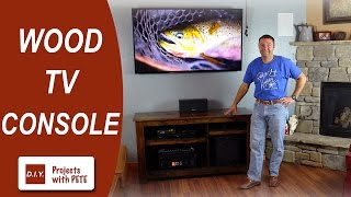 getlinkyoutube.com-How to Make a Wood TV Console