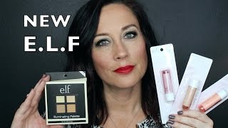 getlinkyoutube.com-NEW ELF Products | Lip Kiss Balm Swatches | Illuminating Palette