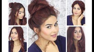 getlinkyoutube.com-Isısız Pratik 5 saç modeli