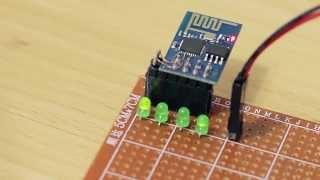 getlinkyoutube.com-How to add more GPIOs to ESP8266 (ESP-01)