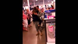 getlinkyoutube.com-Soldier surprises girlfriend at work