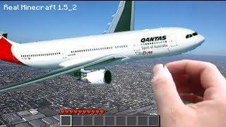 getlinkyoutube.com-Real Life Minecraft - AIRPLANE! (Realistic Minecraft)