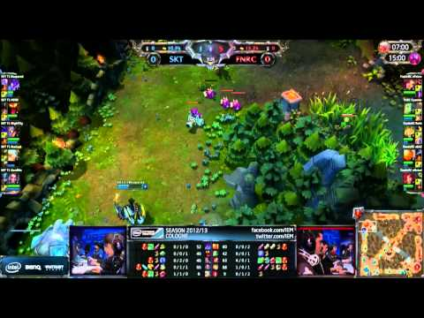 LoL IEM Cologne Fnatic vs SKT1 [Game 1]