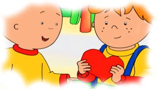 getlinkyoutube.com-Cartoon Caillou | Caillou gets ready for Valentines Day | Cartoons for Children