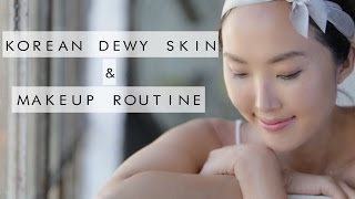 getlinkyoutube.com-Korean Dewy Skin & Makeup