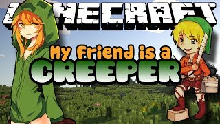 Minecraft Mods: MobTalker - My Friend is a Creeper - CUPA THE CREEPER! (Roleplay) Ep. 1