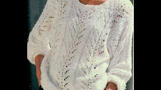 Gráficos para tejer suéter calado para dama
