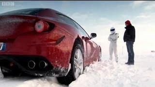 getlinkyoutube.com-Ferrari FF Vs. Bentley Continental V8 on Ice! - Top Gear - Series 18 - BBC
