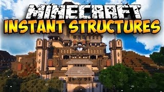 getlinkyoutube.com-Massive Instant Structures Mod - INSTANT HOUSES AND STRUCTURES! (Minecraft Mod Showcase)