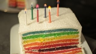 getlinkyoutube.com-Recette du Rainbow Cake