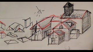 getlinkyoutube.com-How to draw a house with basic shapes