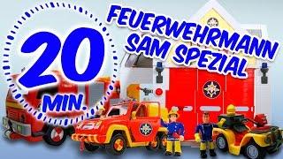 getlinkyoutube.com-⭕ Feuerwehrmann Sam Special - Alle Spielzeuge Feuerwehrstation & Autos - von Pandido TV
