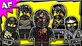getlinkyoutube.com-Lego Ninjago Cole BLACK NINJA Minifigures Complete Collection