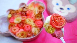 getlinkyoutube.com-Rose Crepe Cake  花束を君に クレープで薔薇を作ってケーキにする