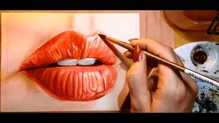 getlinkyoutube.com-How to Paint a Realistic Mouth (Lips) - Watercolor Portrait Tutorial
