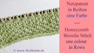 getlinkyoutube.com-Netzpatent in Reihen eine Farbe - Honeycomb Brioche Stitch in Rows one colour