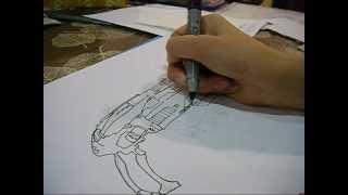 getlinkyoutube.com-Nerf Drawing: Hail-fire