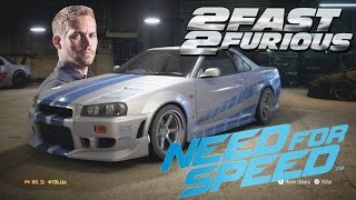 getlinkyoutube.com-2Fast & 2Furious Brian's Skyline R34 on NEED FOR SPEED (2015) PS4