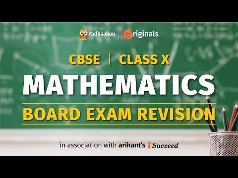 CBSE Exams 2020   Maths Revision   Class 10