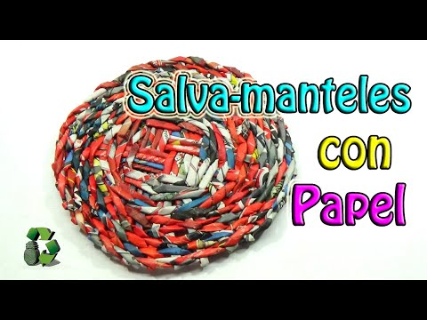 111. DIY SALVA MANTELES  (RECICLAJE DE PAPEL)