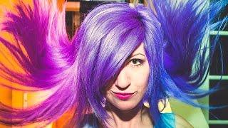 getlinkyoutube.com-How To: Color Changing Hair Secret REVEALED! Blue, Purple, Violet, or Pink?