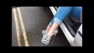 getlinkyoutube.com-Princess Erica - 7 Inch Zebra Heels Findom